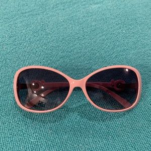 NY&C Pink Framed Sunglasses Rhinestone